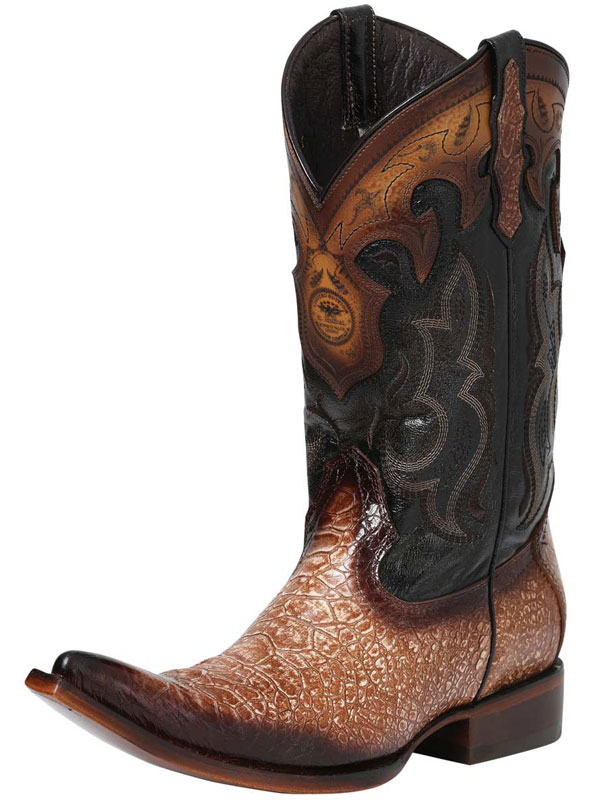 Turtle Print Leather Western Boots 122521