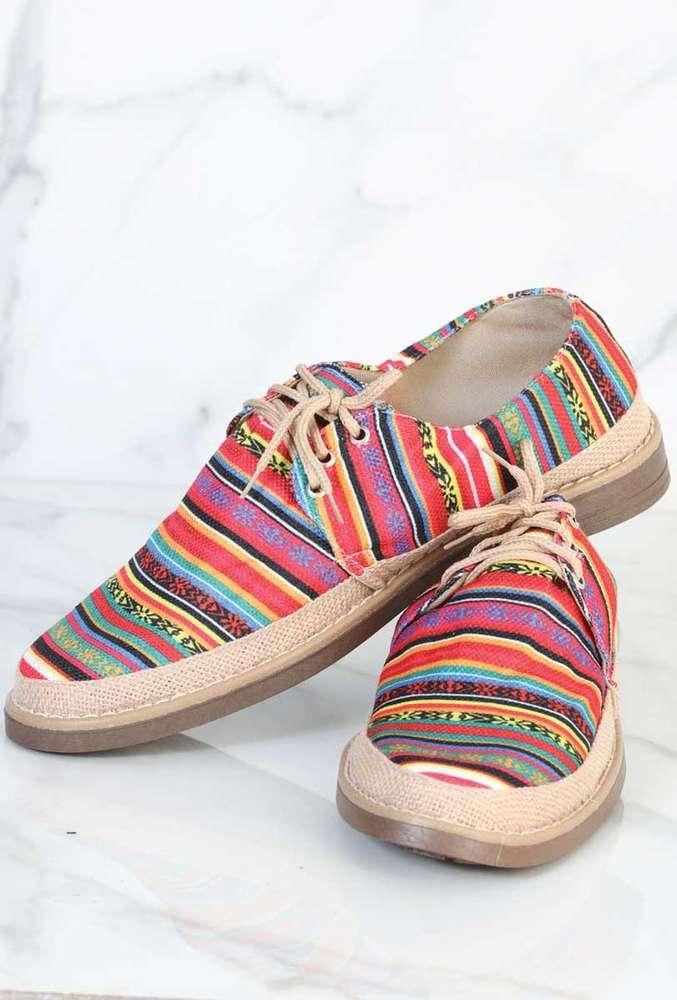 Zapato Artesanal Yute Para Hombre 602056 Multicolor