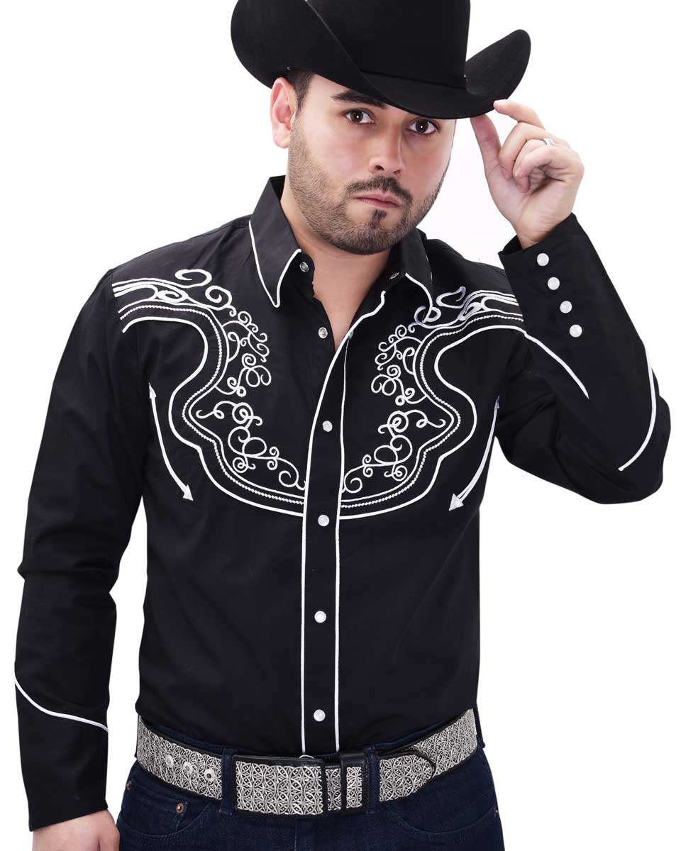 Western Shirt WD Boots 816 Black/White