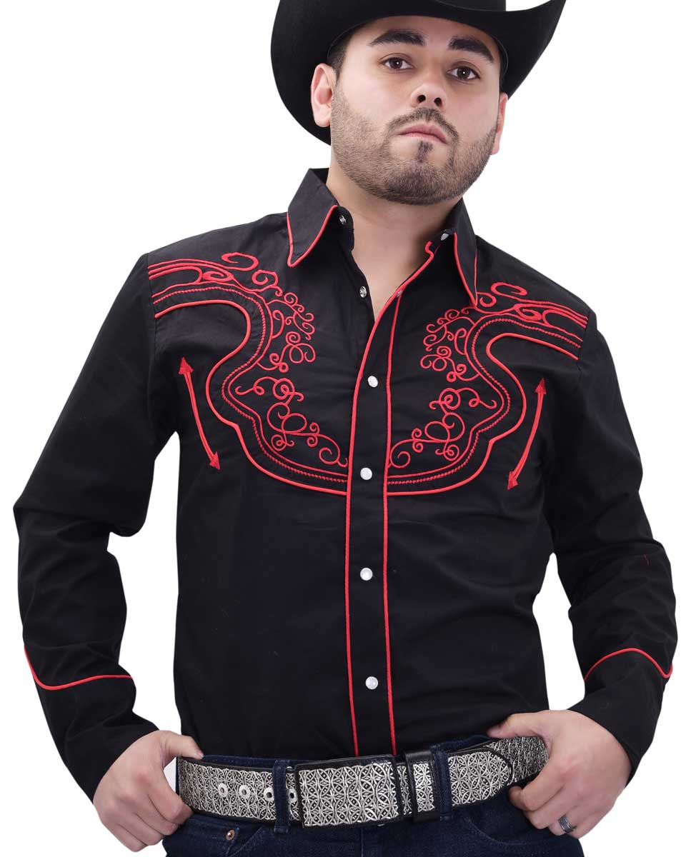 Western Shirt WD Boots 817 Black/Red