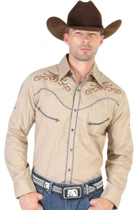 Camisa Vaquera Bordada El General 42333