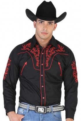Camisa Vaquera Bordada El General 42338