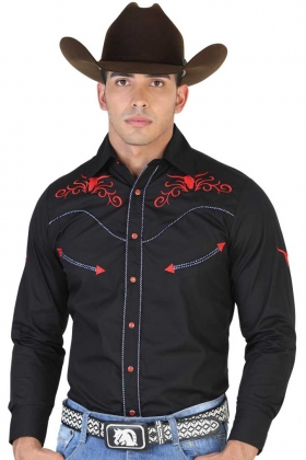 Camisa Vaquera Bordada El General 42332