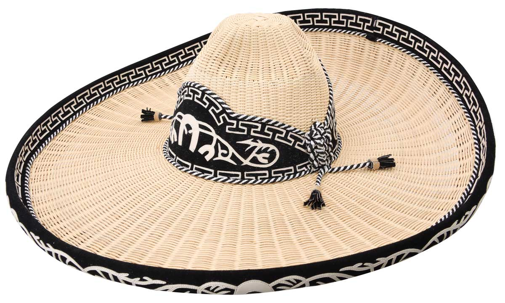 Sombrero Charro Mimbre WD 734 Natural/Negro